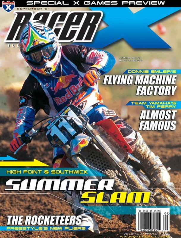 The September 2001 Issue - Racer X Illustrated Motocross Magazine
