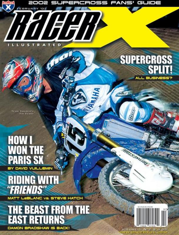 The February 2002 Issue - Racer X Illustrated Supercross Magazine