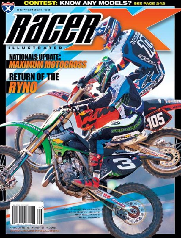 The September 2003 Issue - Racer X Illustrated Motocross Magazine