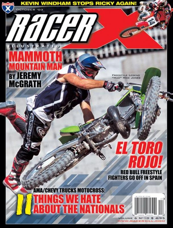 The October 2003 Issue - Racer X Illustrated Motocross Magazine