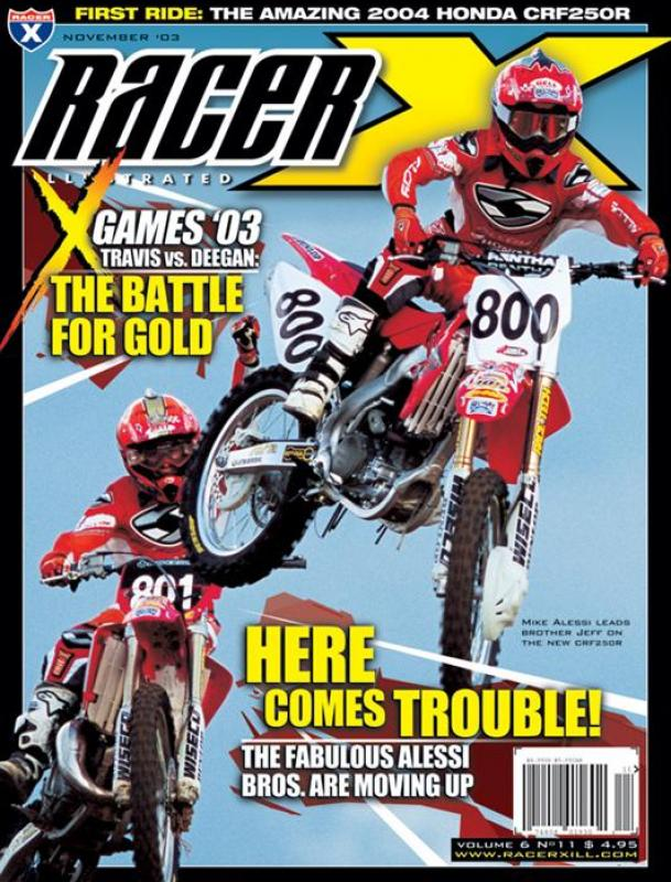 The November 2003 Issue - Racer X Illustrated Supercross Magazine