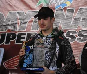 Matt Boni earned his first SX trophy.