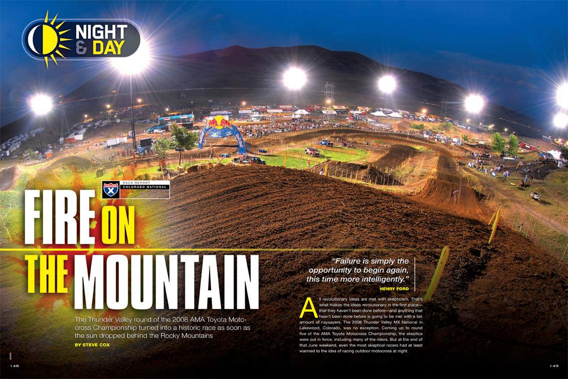 The Thunder Valley round of the 2008 AMA Toyota Motocross