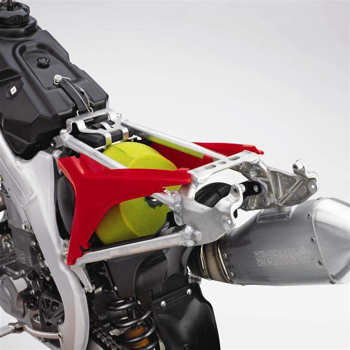 A closer look at the redesigned subframe.