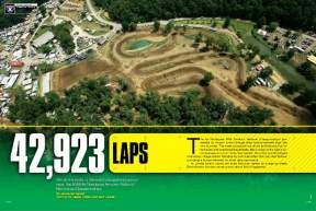 The AMA Amateur Motocross Championships at Loretta Lynn's Ranch host the biggest motocross race in the world, and Jason Weigandt was there to crunch the numbers on every lap. Page 164.