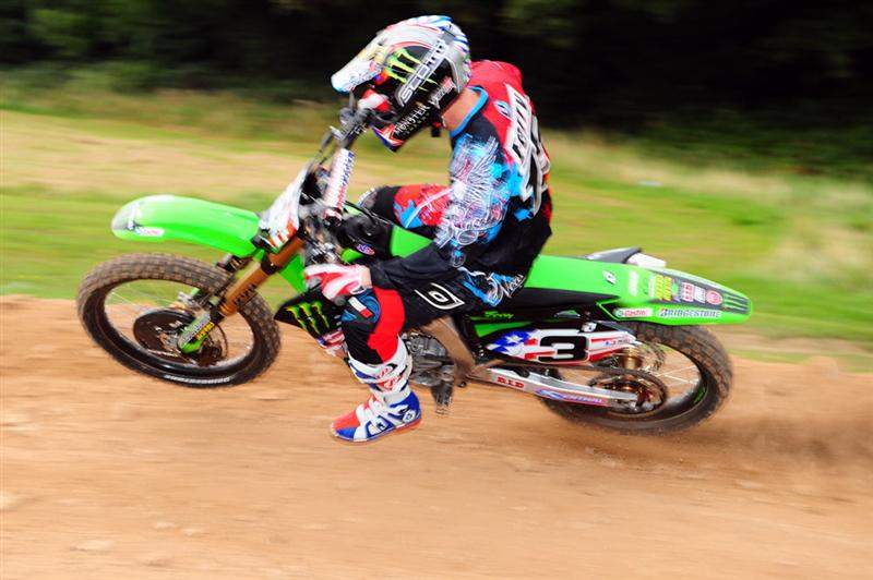 Timmy Ferry doing likewise with his MX3 KX450F.