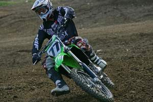 Andy Bowyer was stoked on the 2009 KX450F.