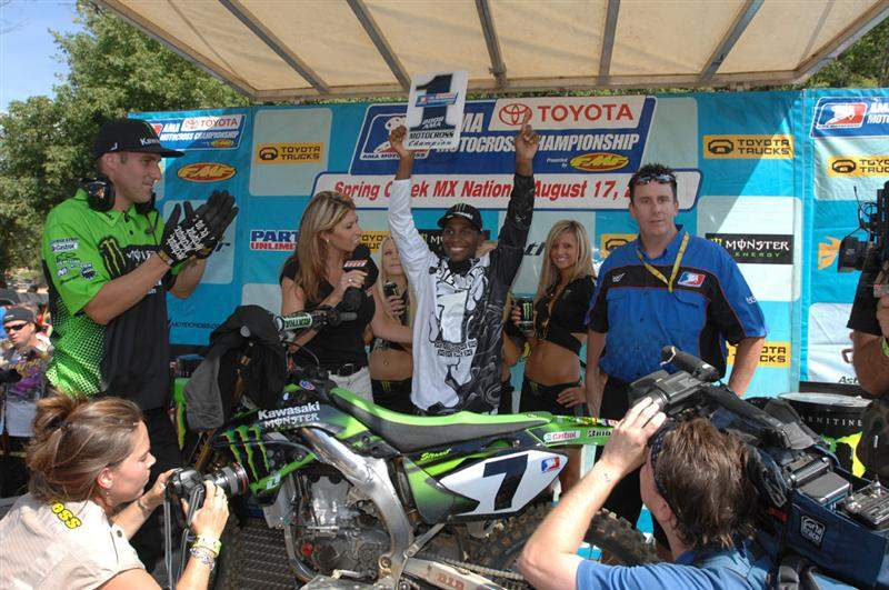 Two years ago the notion of Bubba having a perfect season seemed pretty far off. Bubba's clean sweep in the 2008 AMA Toyota  motocross championships proved he has finally sharpened his focus. James was awesome this summer.