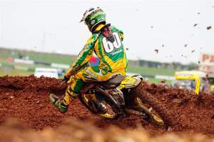 Michael Byrne ran inside the top ten the entire moto and finished eighth