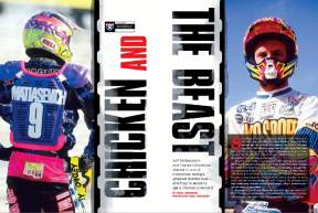 The rivalry between '90s superstars Jeff Matiasevich and Damon Bradshaw is one of the greatest the sport has ever seen. Motocross historian Eric Johnson revisits the glory days of their animalistic feud. Page 208.