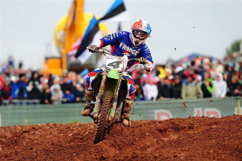 Sebastien Pourcel capitalized on Stewart's mistake and took the final moto win