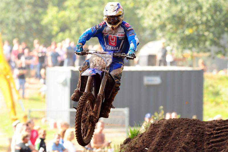 Osborne was running second in moto two before his bike broke.