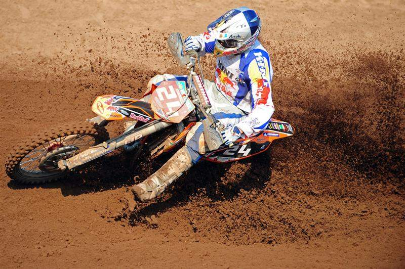 Simpson kills a sand berm.