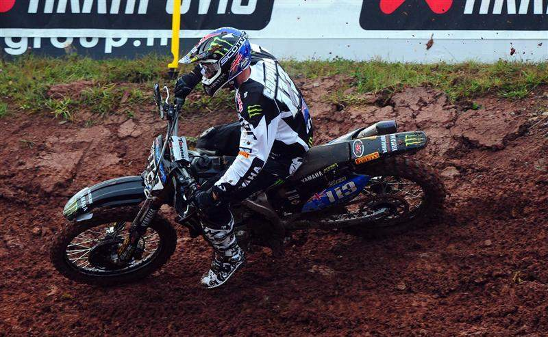 Banners in the rear wheel relegated Josh Coppins to ninth in MX1