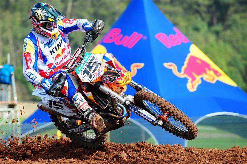 Great Britain's Shaun Simpson rode a 250F in the Open class qualifier and finished seventh