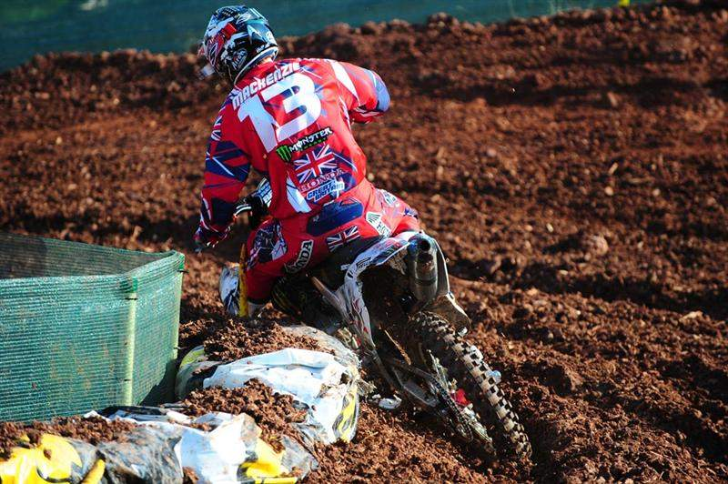 Billy Mackenzie ran second to James Stewart for a large portion of the MX1 qualifier, before finishing seventh.