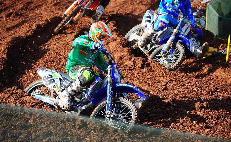 Spain's Carlos Campano was fast in MX2, finishing seventh aboard his Yamaha.