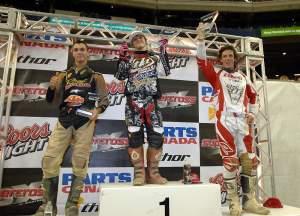 Your MX2 podium: Tim Tremblay, Tyler Medaglia and Simon Homans.