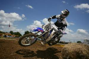 Hambone on the factory Yamaha