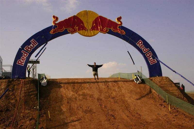 The finish line jump is huge!