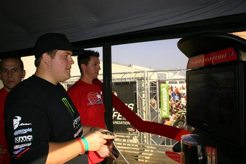 Pro Circuit's Kyle Bentley is hard at work playing MX vs. ATV Untamed