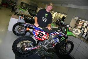 John posing with Ryan Villopoto's 2008 MXoN bike