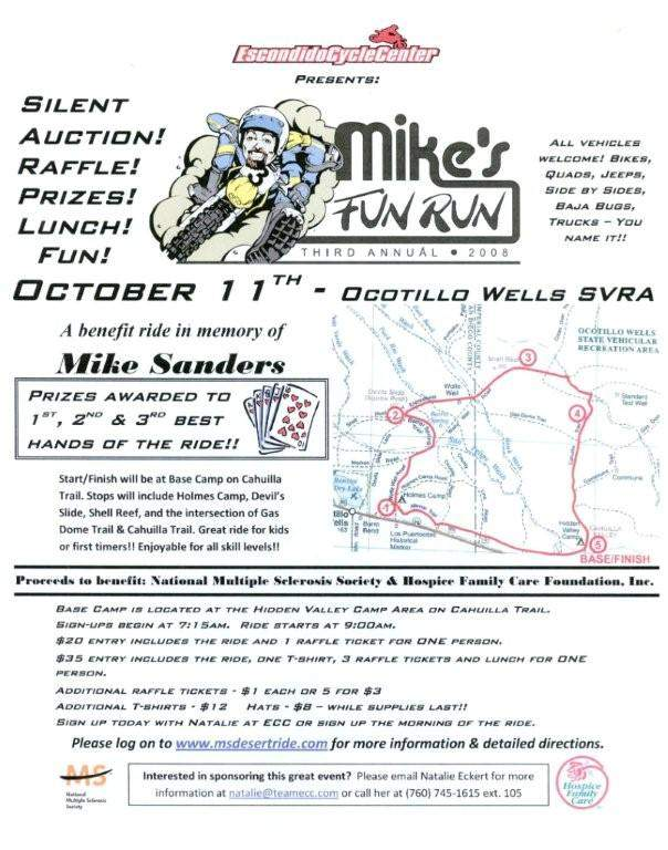 Mike's Fun Run Flyer