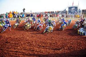 Cody Cooper grabs the Open holeshot