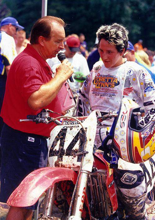 Italy's Stefy Bau won the Women's class at Loretta Lynn's in 2001, then went on a quest to become the first women to qualify for a supercross or outdoor national. She didn't quite make it, but she is one of the true pioneers for the WMA and an inspiration to female motocrossers all over the world.