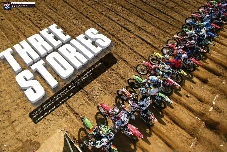 Three Racer X staffers went to Millville, where they tapped into three different stories at the Minnesota round of the AMA Toyota Motocross Championship. By Jason Weigandt, Steve Matthes, and Steve Cox. Page 154.