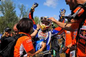 Tyla Rattray celebrates his first world championship