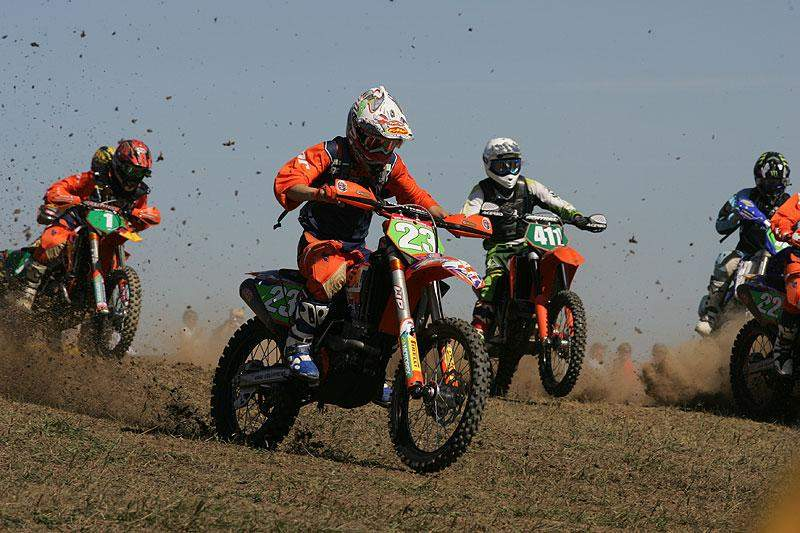 Team Powersport Grafx KTM's Kailub Russell nabbed the $100 Thumpertalk.com Holeshot in the XC2 Class