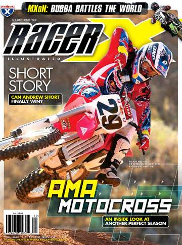 The December 2008 Issue - Racer X Illustrated Motocross Magazine