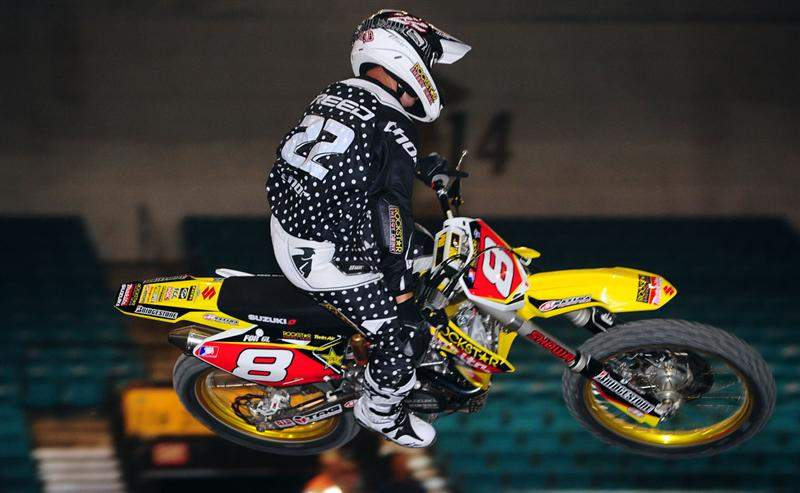 Chad Reed is wearing #8 in honor of his friend Grant Langston