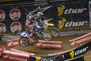 Chad and James delivered a great race on Saturday night