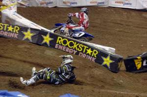 Chad Reed hits the dirt