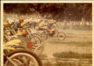 Thorleif crashing the gate at Elkhorn Wisconsin in 1972