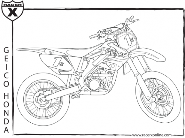 yamaha dirt bike coloring pages - ktm bikes colouring pages
