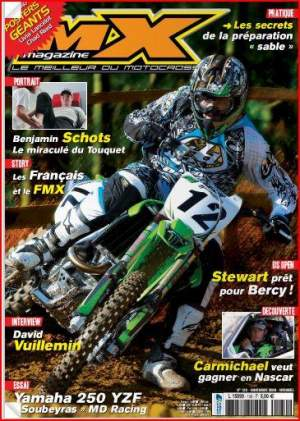 "David ""Le Cobra"" Vuillemin captured page one on MX Magazine in France"