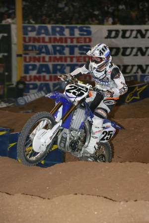 Ramsey at the Phoenix Supercross in 2008