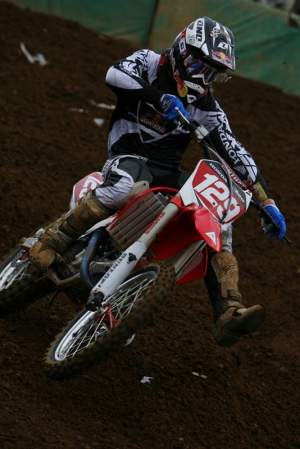 Andrew Short wore #129 on his way to winning last weekend in Japan on the new Honda CRF450