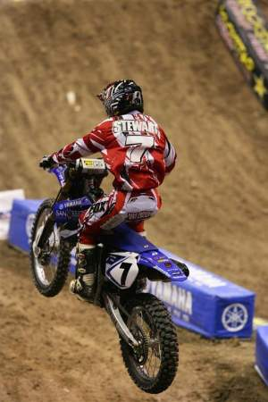 James Stewart went 1-1 in his L&M Racing San Manuel Yamaha debut