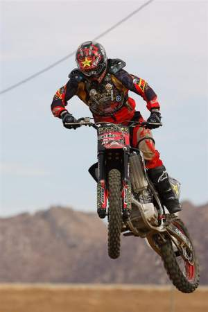 Brian Deegan shows off his motocross chops