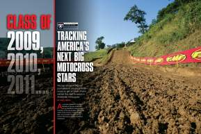 The talent pool in America is deep and crowded, as you'll see when we ask amateur race watchers to list the next superstars of U.S. motocross. Page 160.