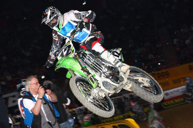 David Vuillemin debuted his new Kawasaki