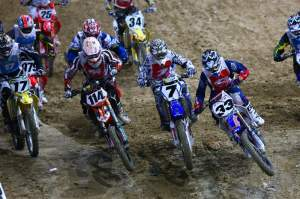James Stewart (7) was ahead of Josh Grant (33) and Justin Brayton (114) every time he left the first turn.