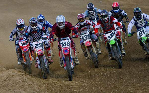 This is the second moto start I believe, and to the complete surprise of no one, Kyle Lewis grabbed the holeshot.