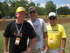 """Big"" Rick Carmichael (left) hanging with his buddies at Loretta's"