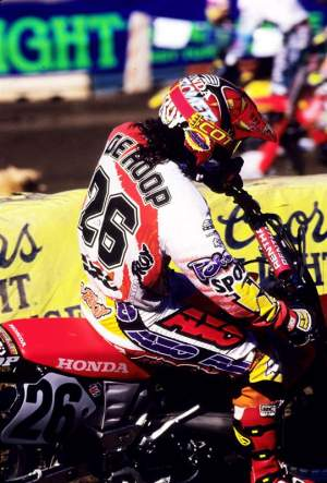 Todd DeHoop was the first-ever rider signed by Alderton.