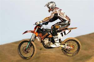 Travis Preston is back on a supercross track